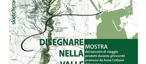 Locandina dell'evento 'Disegnare nella Valle dell'Oreto'.