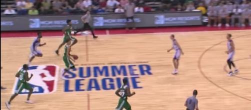 NBA Summer League Las Vegas games continue on Sunday, July 9th, with the Celtics in action. [Image via NBA/YouTube]