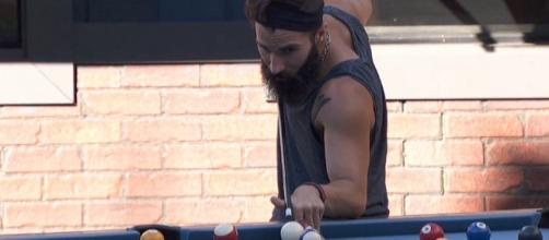 "Paul Abrahamian, playing pool on ""Big Brother 19."" [Image credit: CBS]"
