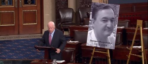 Sen. John McCain (R-AZ) talks about Magnitsky ACT / [Image screenshot from Senator John McCain via YouTube:https://youtu.be/biI3CD3U01o]