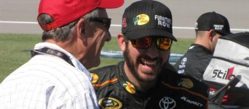 Truex talking to a race fan before the race (Credit: Steven Oxley)