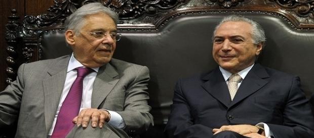 Presidente Michel Temer pode buscar apoio com ex-presidente Fernando Henrique para acalmar os ânimos no Congresso. ( Foto: Reprodução)