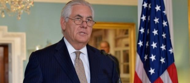 Secretary of State Rex Tillerson at State Department / [Image by U.S. Department of State via Flickr, U.S. Government Work]