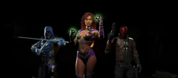 "Starfire is the third and final character in the ""Injustice 2"" DLC called ""Fighter Pack 1."" [Photo via YouTube/Injustice]"