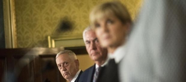 The mostly absent Secretary of State Rex Tillerson (middle) / [Image by Joint Chiefs of Staff via Flickr, CC BY 2.0]