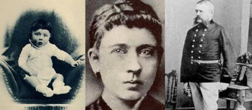 Adolf Hitler, su madre Klara y su padre Alois