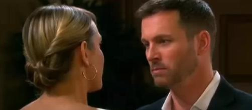 Days of our Lives Nicole and Brady. (Image via YouTube screengrab)