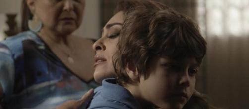 Dedé, filho de Bibi, ficará na linha de fogo dos policiais, em episódio em que Sabiá irá morrer. ( Foto: Reprodução)