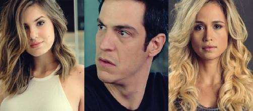 """Eric trairá Luiza com Sandra em """"Pega-Pega"""""""