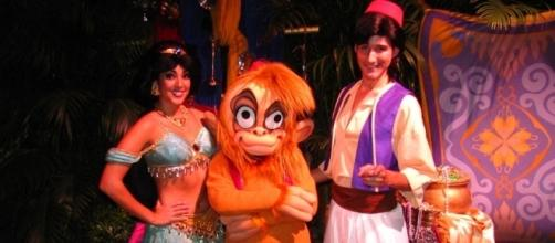 Jasmine, Aladdin and Abu at Mickey's Not-So-Scary Halloween Party - Loren Javier (Flickr)