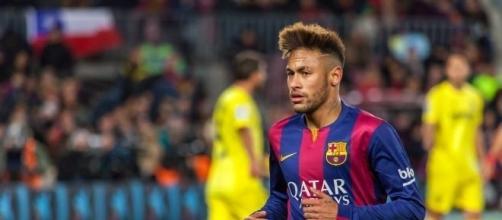 Neymar con la maglia del Barcellona.