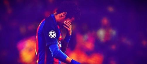Neymar en las semifinales contra la Juventus de Turín