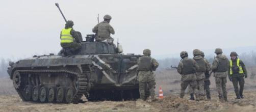 Ukrainian troops on manuevers (US Army)