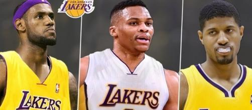 Who will join the Los Angeles Lakers next season, LeBron James, Russell Westbrook and Paul George? (via YouTube - NBA Skyline)