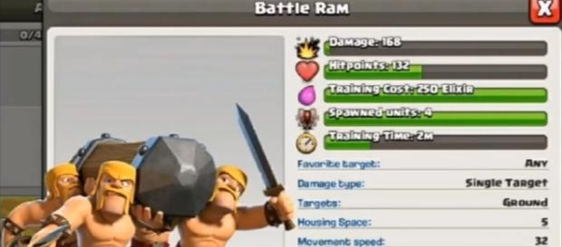 """""""Clash of Clans"""" will introduce the Battle Ram as part of its 5th-year Anniversary Event - YouTube/World of Clash - Clash of Clans"""