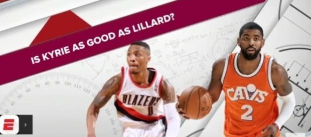 Damian Lillard and Kyrie Irving might switch teams if the Trail Blazers and Cavs decides to a trade deal - ESPN / YouTube