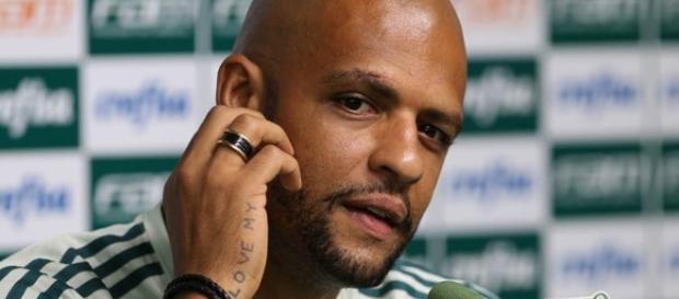 Felipe Melo, volante do Palmeiras