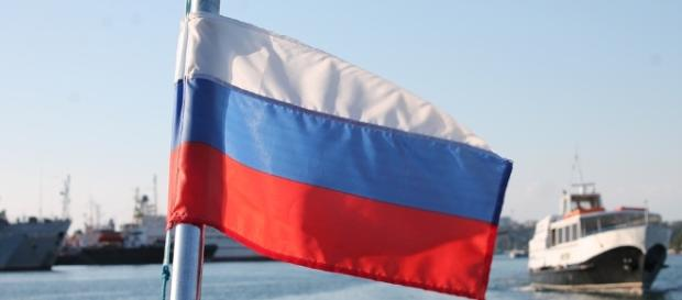 Flag of the Russian fleet a symbol of power. https://pixabay.com/en/flag-of-russia-russia-on-the-sea-2414964/