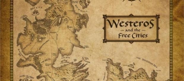 Mapa de Westeros e Cidades Livres