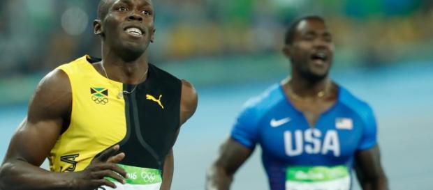 Usain Bolt and Justin Gatlin at the Olympics (Image: Fernando Frazão/Agência Brasil)