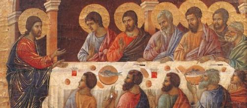 "Duccio di Buoninsegna's ""Appearance While the Apostles are at Table."" - image via Wikimedia/Web Gallery of Art"