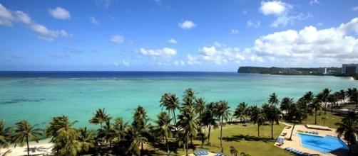 la isla de Guam tiene 544 kilómetros cuadrados