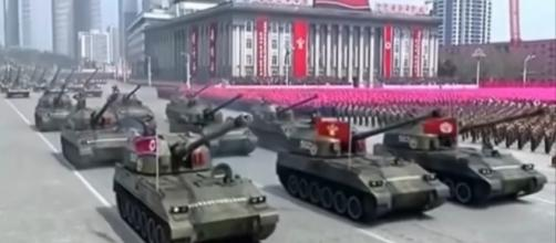 North Korea DPRK military parade / [Image screenshot from VSB Defense via YouTube:https://youtu.be/6og9iThqulw]