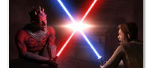 Obi-Wan and Darth Maul fight in 'The Clone Wars' via Wookiepedia