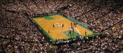 A game between Boston Celtics and Miami Heat. [Image via Rene Schwietzke/Wikimedia Commmons]