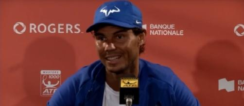 Rafael Nadal during a press conference at Rogers Cup/ Photo: screenshot via Tennis HD channel on Youtube