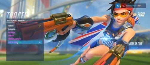 Tracer's 'Track and Field' skin from the 'Overwatch' Summer Games. (image source: YouTube/Mark Hoo)