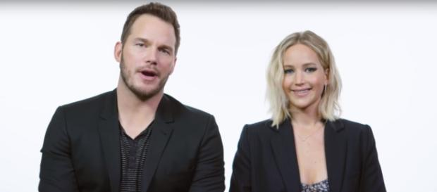 Chris Pratt, Jennifer Lawrence | YouTube screenshot | Wired/https://www.youtube.com/watch?v=Q5M4KQ1EU-I