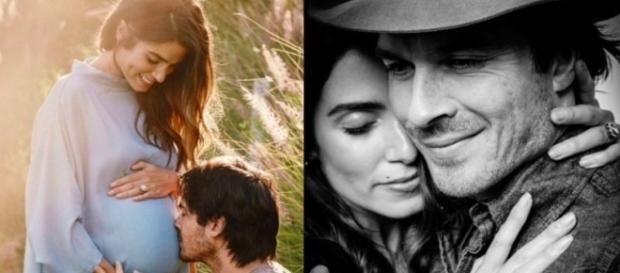 Nikki Reed e Ian Somerhalder estão esperando o primeiro filho (Fotos: Reprodução/Instagram)