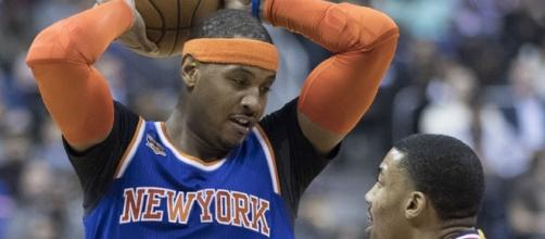Carmelo Anthony/ photo by Keith Allison via Flickr