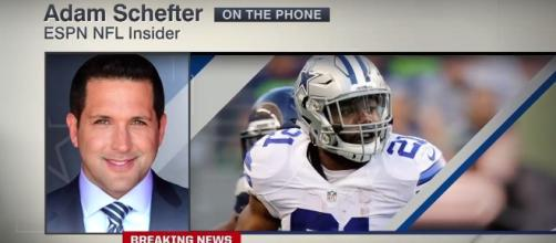 Ezekiel Elliott suspended by the NFL for six games - (Image credit: YouTube/ESPN)