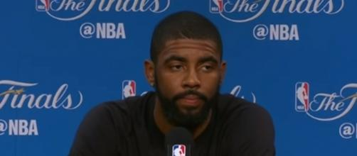 """Kyrie Irving acted """"sullen or reclusive"""" around his teammates during the postseason -- NBA via YouTube"""