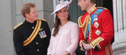 Prince Harry, Kate Middleton, and Prince William- (Wikimedia Commons/Carfax2)