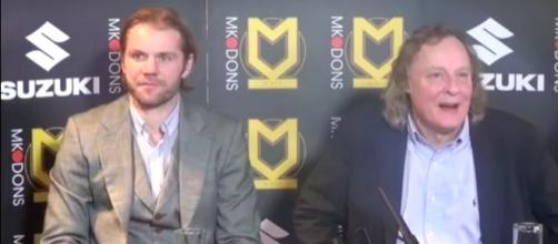 Robbie Neilson and Pete Winkelman via MK Dons/ Youtube
