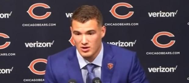 Mitchell Trubisky completed 18 of 25 passes for 166 yards and a touchdown -- Commercials Snapchat Instagram via YouTube
