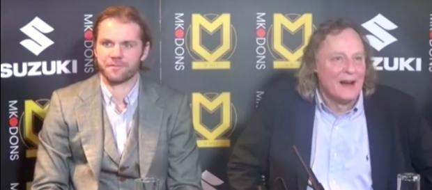 Robbie Neilson and Pete Winkelman via MK Dons/ Youtube