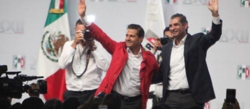 Asamblea Nacional del PRI desarrollada el 12 de agosto del 2017, celebran ir por el camino correcto./ imagen Revista Proceso, José Gil Olmos.