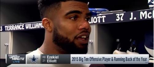 Ezekiel Elliott, Dallas Cowboys suspended - Photo: NFL Network/YouTube