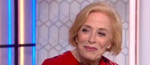 """Holland Taylor was interviewed about her role as Ida Silver in """"Mr. Mercedes"""" [Image: YouTube/TODAY]"""