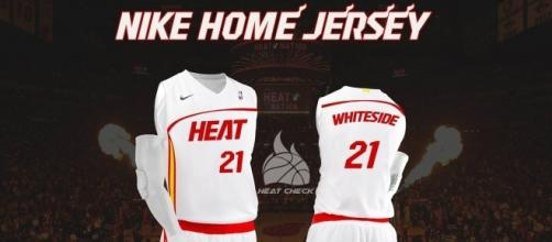 Miami Heat Nike jersey concept. Image Credit: Own work