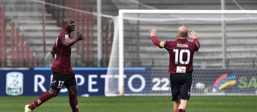 Minala ha realizzato il gol del vantaggio per la Salernitana