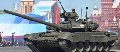 T-90 tanks on parade in Russia https://en.wikipedia.org/wiki/T-90