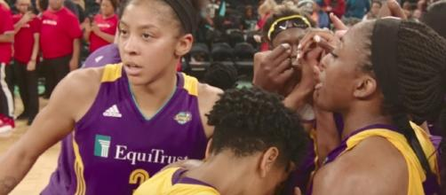 The Los Angeles Sparks picked up a big win on the road over Minnesota on Friday night. [Image via WNBA/YouTube]
