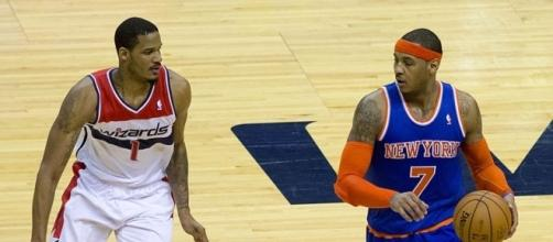 The New York Knicks and Houston Rockets are getting closer for Carmelo Anthony trade Wikimedia Commons/Keith Allison