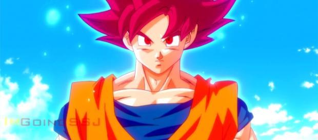 Goku in his Super Saiyan God form - ImGoingSSJ via YouTube