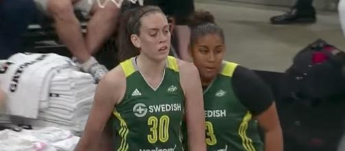 Breanna Stewart scored 20 points to go with nine rebounds and the Storm defeated the Mercury 98-89. [Image via WNBA/YouTube]